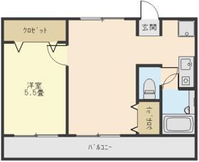 メゾン・ドゥ・ラポート羽村Ⅱ 203号室の間取り