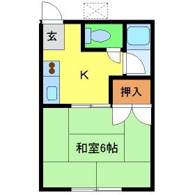 渋沢コーポ 202号室の間取り