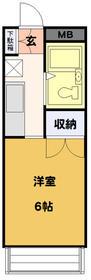 HOSOI-'93 201号室の間取り
