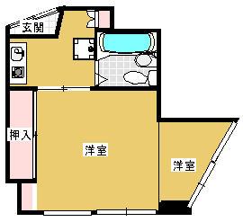 山崎ビル 3C号室の間取り