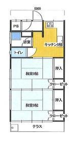 レトロアパート寿荘 10号室の間取り