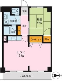 横浜森町分譲共同ビル 1106号室の間取り
