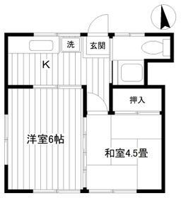 鈴木荘 102 102号室の間取り