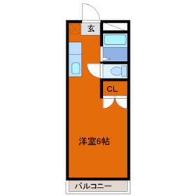 ヒロ大巌寺 205号室の間取り