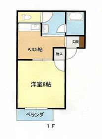 メゾンHARUKA 201号室の間取り
