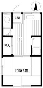 関口アパート 201 201号室間取り図