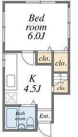 KHアパート 1F号室の間取り