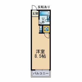 エステート21 B203号室の間取り