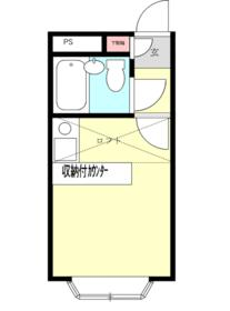 ベルピア鎌倉第3 204号室の間取り