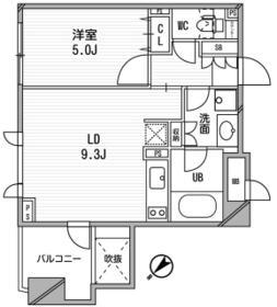 クリオ渋谷ラ・モード 309号室の間取り