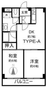 グリーンガーデン武蔵浦和 0310号室の間取り