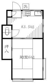 第2コーポユタカ 207号室の間取り