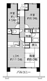 ビレッジハウス京ヶ峰タワー 0513号室の間取り