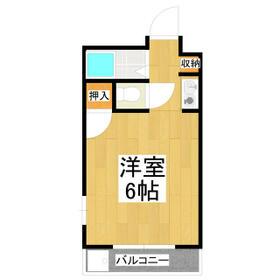 コーポ・リヨン 201号室の間取り