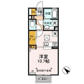 D-room思川ヴィオレ D 106号室の間取り