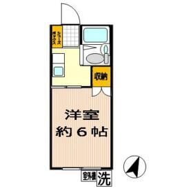 グリーンコーポ鶴ヶ峰 A103号室の間取り
