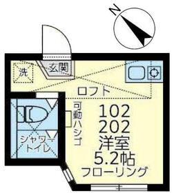 ユナイト井土ヶ谷トニー・ペレス 102号室の間取り