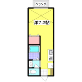 メゾン・ド・オランジュ 205号室の間取り
