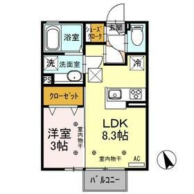 (仮)D-room野木町 105号室の間取り
