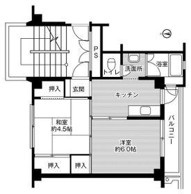 ビレッジハウス小林2号棟 0203号室の間取り