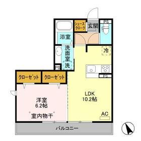 BSvilla A 205号室間取り図