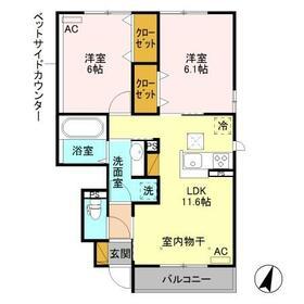 (仮)D-room筑西市布川 A 101号室の間取り