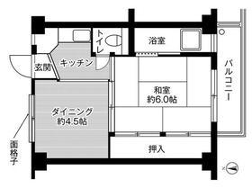 ビレッジハウス稲葉郷1号棟 0201号室の間取り