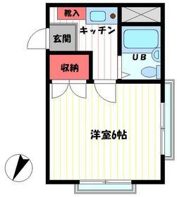 サンライズマンション 103号室の間取り