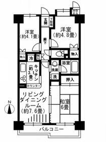 コスモ武蔵浦和ヴィレッジ 305号室の間取り