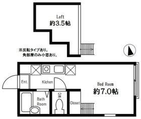 グリーンヒルズ横濱(ハーミットクラブハウス) 202号室の間取り