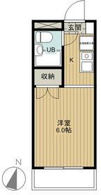 スプリーム横浜 206号室の間取り