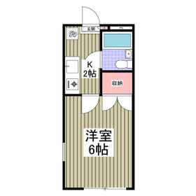プランドール西川田 旧カーサー西川田 201号室の間取り