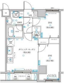 グランフォース西新井アヴェニール 902号室の間取り