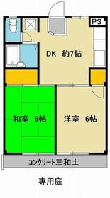 メープルマンション三ツ境 102号室の間取り