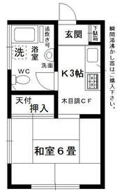 金子荘 201号室の間取り