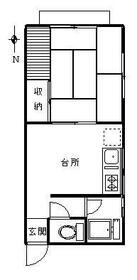 戸沢アパート 102号室の間取り