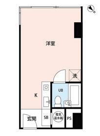 トーカン新宿キャステール 407号室の間取り