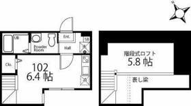 ハーミットクラブハウス霞台IV(仮) 102号室の間取り