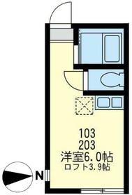 ユナイト宮田町ルーカス・バスケス 103号室の間取り