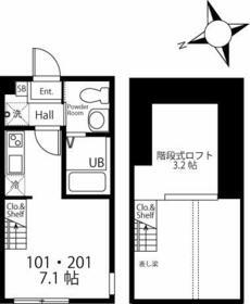 ハーミットクラブハウス戸塚矢部町A棟(仮) 201号室の間取り