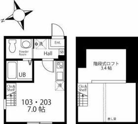 ハーミットクラブハウス戸塚矢部町A棟(仮) 203号室の間取り