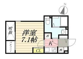 PASEO Sasazuka Ⅱ 0301号室の間取り