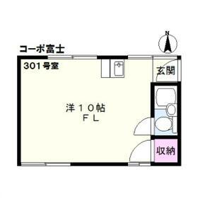コーポ富士 301号室の間取り