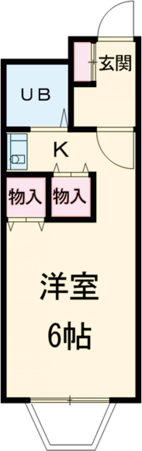 ピアマイン勝山 201号室間取り図