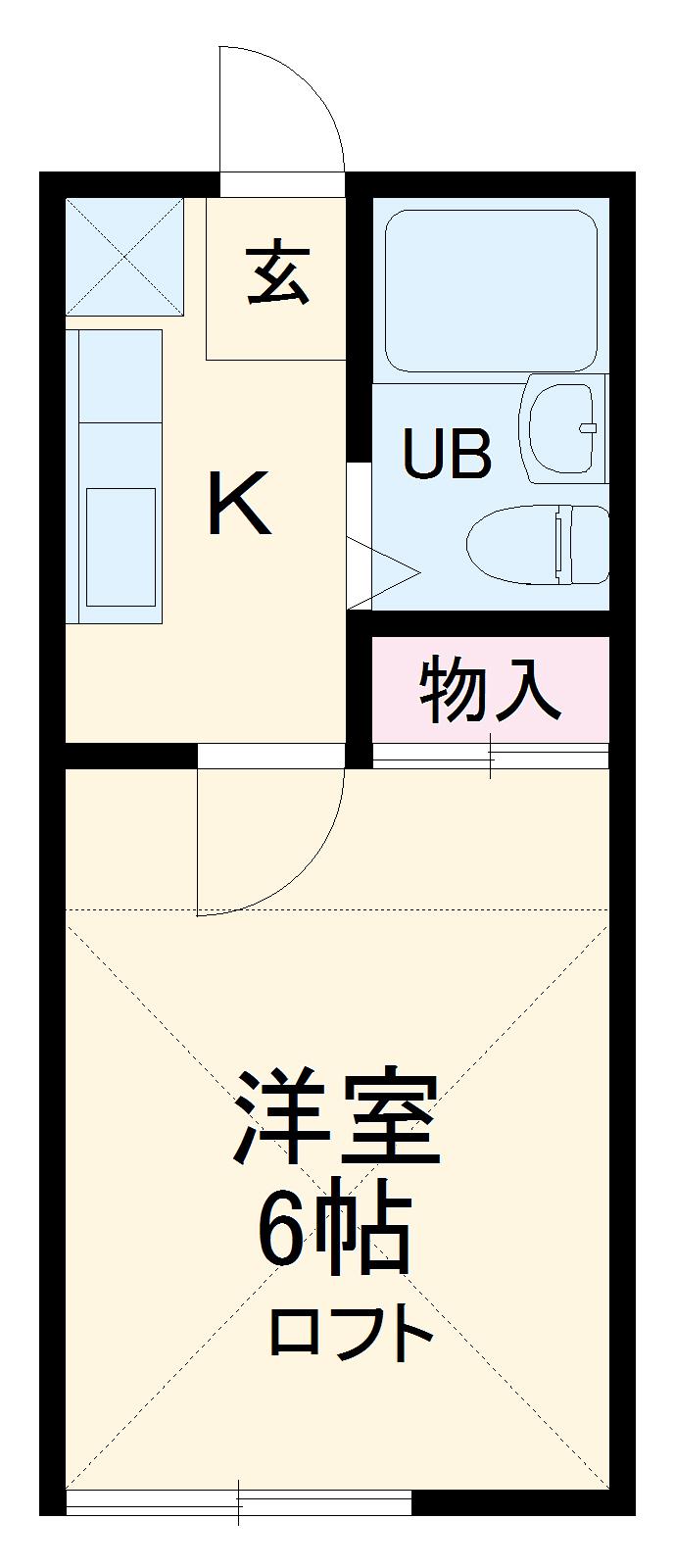 ツインホーム 110号室間取り図