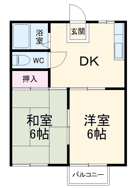 古川タウニィハウス 11号室の間取り