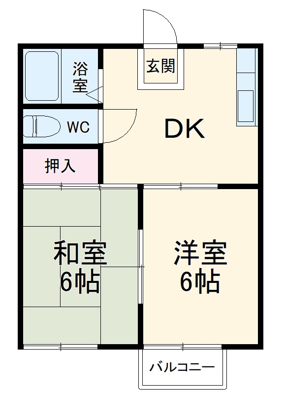 古川タウニィハウス 12号室の間取り