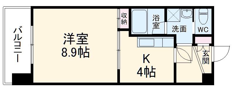 エクシード田町 606号室の間取り