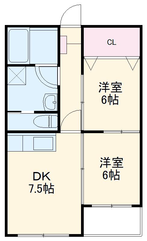 東寺尾マンション 103号室の間取り