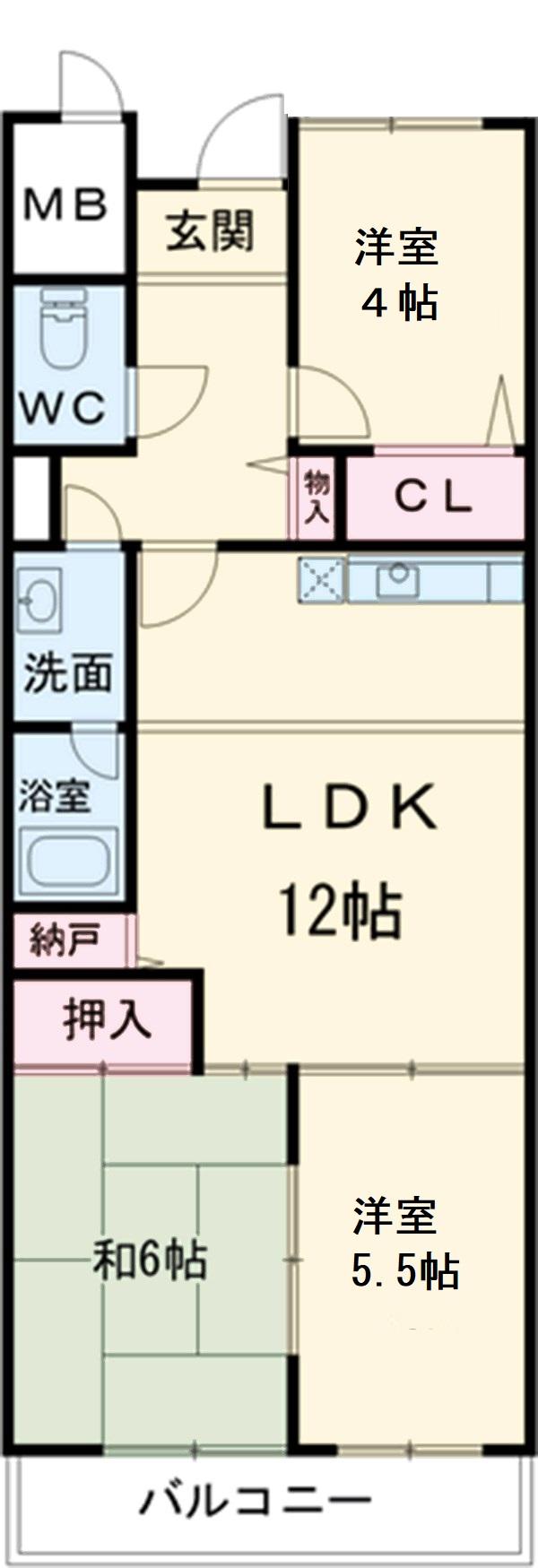 第2奥村マンション 4A号室の間取り